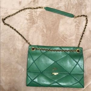 Roger Vivier green leather bag